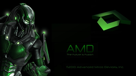 AMD logo - amd, predators, logo, green