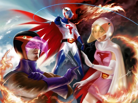 Battle Of The Planets - cartoon, princess, jason, ace