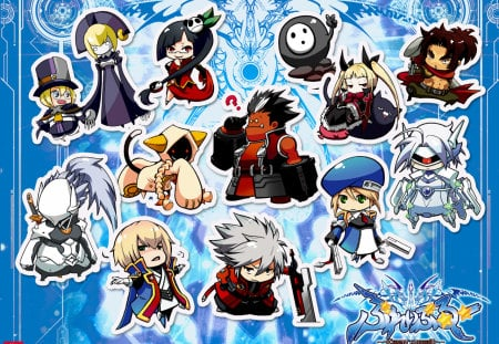Chibi BlazBlue 2 - games, trigger, blaz, calamity, video, blue