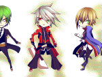 Hazama, Ragna, and Jin