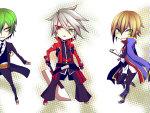 Hazama, Ragna, and Jin