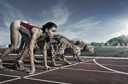 Running Wild - sprint, race, cheetah, cg, dash, abstract, run, runner, wild