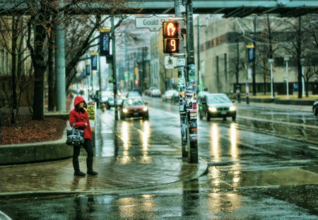 Rainy Day City Reflections