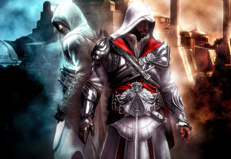 assassins creed altair and ezio - ps3, games, playstation, assassins creed, ezio, altiar, ps