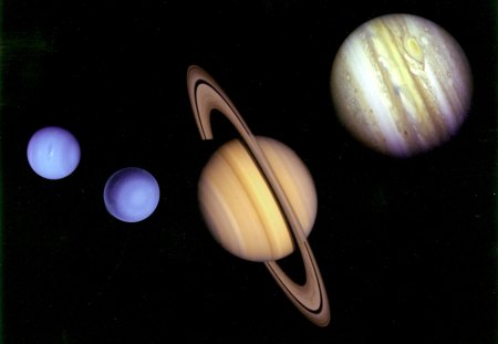 VOYAGER TOUR MONTAGE - planets, jupiter, space, nightsky, saturn