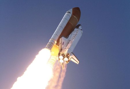 DISCOVERY TAKES OFF - sky, flight, shuttle, discovery, space