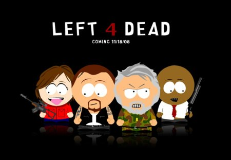 left 4 dead - left 4 dead cartoon, left 4 dead, south park, left 4 dead the game