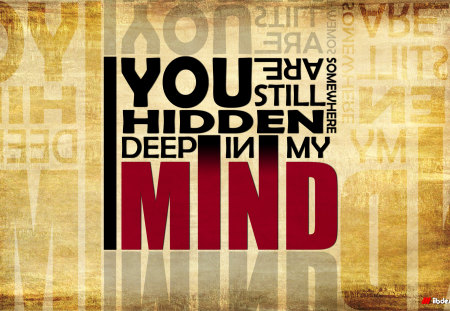 In My Mind - typography, in, my, mind