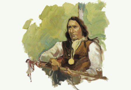 Lakota Chief Red Cloud 1 - art, lakota, livingston, painting, portrait, native american, chief, francis livingston