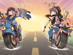 Pokemon on Motorcycles!