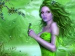 Beautiful Green Fairy