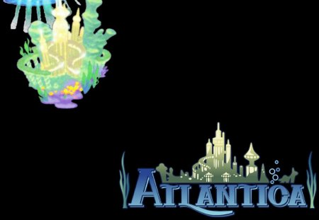 Atlantica (KH2) (KHII) - world, ii, atlantica, logo, kingdom hearts 2