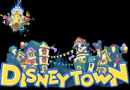 Disney Town (BBS) - birth by sleep, world, logo, disney town, kingdom hearts birth by sleep, bbs