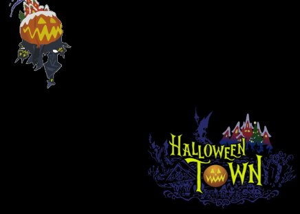 Halloween Town/Christmas Town (KH2) (KHII) - world, khii, ii, christmas town, logo, halloween town, kh2, kingdom hearts 2