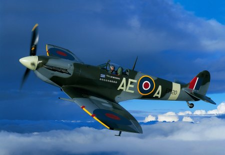 Supermarine Spitfire MkV - super, fighter, ww2, airplane, marine, wwii, mkv, supermarine, spitfire
