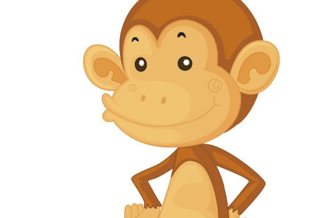 cute monkey - cartoon, attitude, monkey, cute