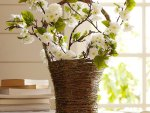 Flower branch basket