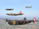 B 17, B 24, B 25, P51 (for Frank - immoral)