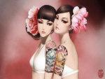 Twin Girls Tattoo