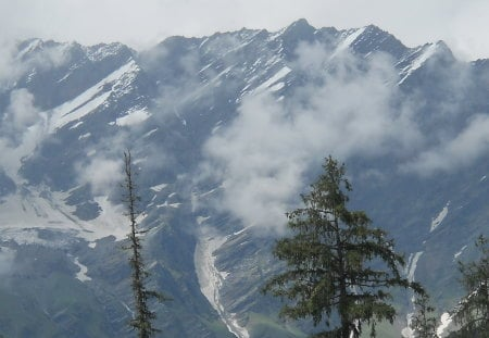snow mountain - snow, manali, mountain, shilong valley