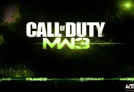 Call of Duty: Modern Warfare 3 - arms, playstation 3, game, assault rifles, first person shooter, 360, iw, pistol, black, mw3, activision, rifle, weapons, cool, battle, fps, xbox, awesome, modern warfare 3, lmg, guns, cod, xbox 360, sub-machine guns, green, america, modern warefare, sledgehammer, ps3, war, germany, england, logo, call of duty, snipers, infinity ward, frane
