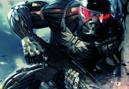 Crysis Full HD - war, hd, soldier, crysis, game, wall, full hd, gun, 1080p