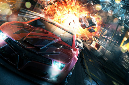 Splitsecond Full HD - race, hd, explosion, game, splitsecond, full hd, city, boom, car, 1080p