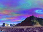 trippy desert sky