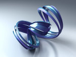 Abstract Blue Bow