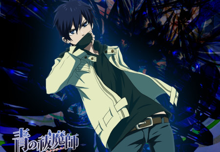 ao no exorcist rin - super, no, i love, ao, cool, blue and black, rin, awesomeness, exorcist