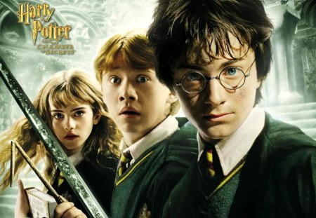 Harry Potter and the Chamber of Secrets - hermione, movie, books, harry potter, ron, 2nd, people, awesome, actors