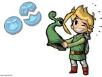 Toon Link getting yelled at