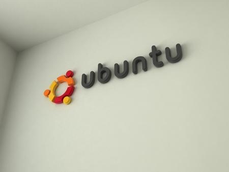 Ubuntu Wall Logo - logo, wall-logo, wall, ubuntu, ubuntu wallpaper