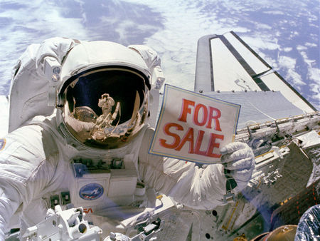 Earth for Sale - funny, for sale, space shuttle