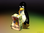 Linux Tux Sucking Windows Straw Drinking