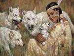 squaw with wolves