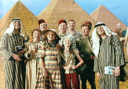 Weasley family Egypt photo - family, vacation, harry potter, weasley, egypt