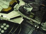 Open cockpit at the hangar