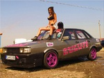 Iva Rusenova with AUDI 80 B2