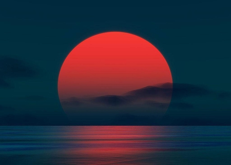 Red Rising Sun 3d And Cg Amp Abstract Background