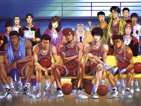 Shohoku Basketball Tream Other Anime Background Wallpapers On