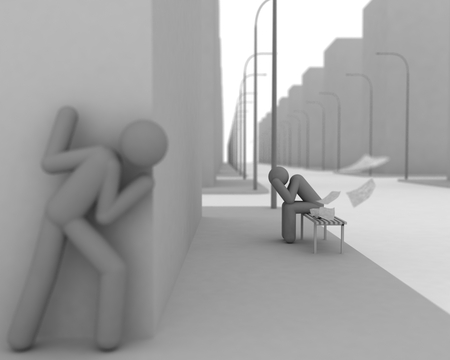 sad 3D - creepy, hd, 3d, sad, 1080p, white, looking, silver