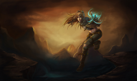 Ezreal the Prodigal Explorer - league, fighter, lol, woman, sexy, legends, girl, ezreal, prodigal, explorer, genderbending