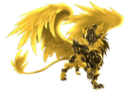 Gold griffin fantasy abstract background wallpapers on for Grifo dorado