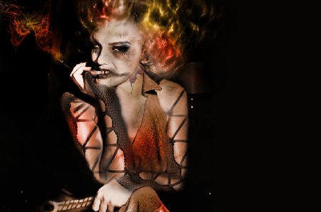 morbid monroe - dead, marilyn monroe, old, fire, fantasy, gothic, dark, norma jean wallpaper, forever, smoke, morbid, marilyn monrow wallpaper, actress wallpaper