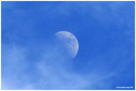 Daytime moon - sky, other, moon, desktop, people