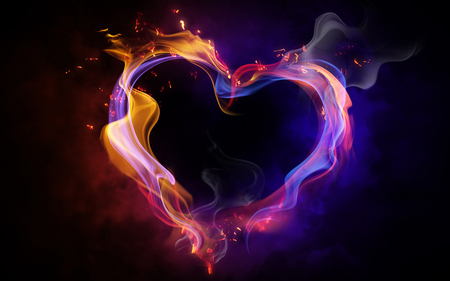neon heart 3d and cg abstract background wallpapers on desktop
