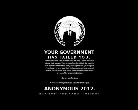 Anon 2012 - vote anon, anon, anarchy, 4chan, anonymous, 4 chan, government