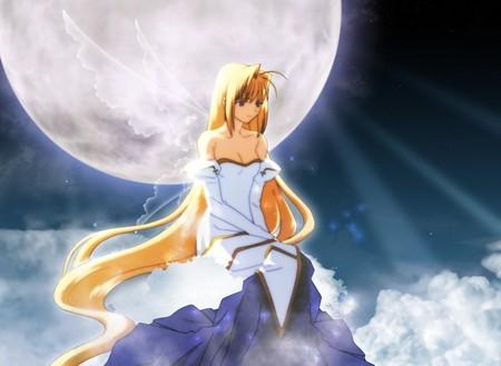 Tsukihime - mystic, tsukihime, moonrise, miracle, full moon, vampire, anime