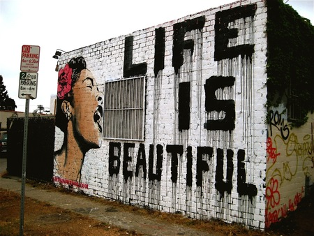 Life is Beautiful - stencil, art, graffiti